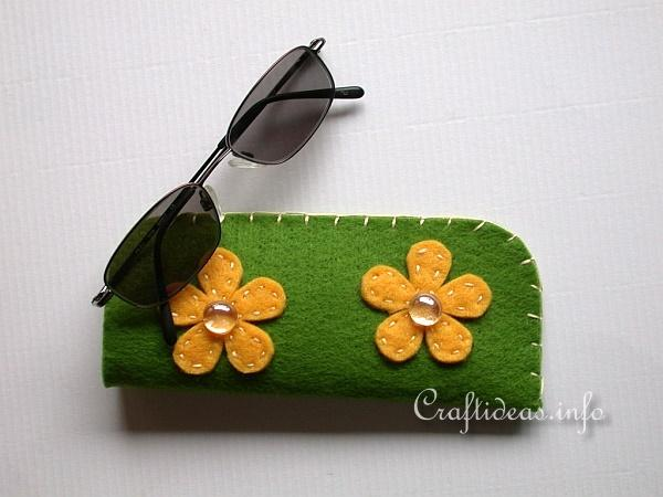 felt fabric craft ideas free textile craft sew a felt glasses for 4454