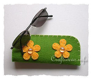 Fabric and Sewing Crafts - Felt Glasses Case