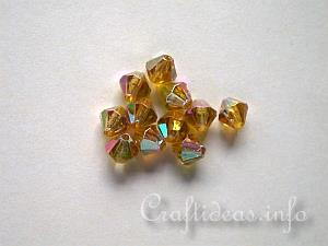 Faceted Diamond Shape Glass Beads