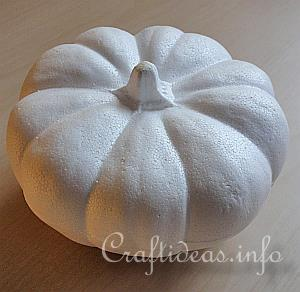 Fall Craft - Needle Felted Pumpkin -Styrofoam Pumpkin