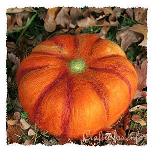 Fall Craft - Needle Felted Pumpkin
