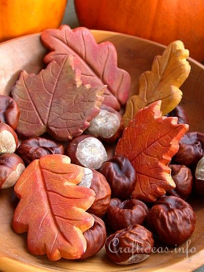 Fall Craft - Plaster of Paris Leaves Decoration 1