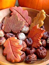 Fall Craft - Plaster of Paris Leaves Decoration