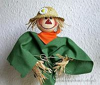 Fall Craft - Scarecrow Plant Stick