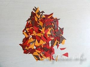 Fall Craft for Kids - Paper Mosaic Leaves Tutorial 1