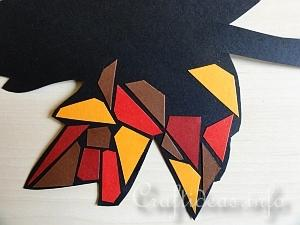 Fall Craft for Kids - Paper Mosaic Leaves Tutorial 5