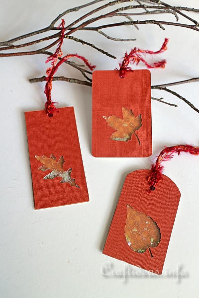 Fall Leaves Shaker Tags