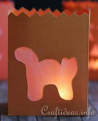 Fall Paper Craft - Black Cat Paper Lantern