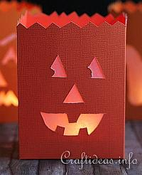 Fall Paper Craft - Happy Pumpkin Paper Lantern