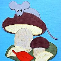 Fall Paper Piecing Project - Mouse and Mushrooms