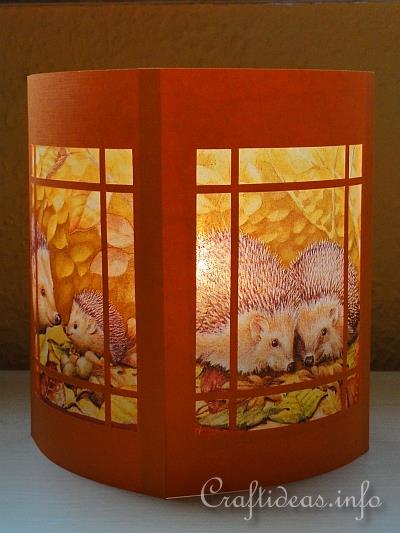 Fall Paper Table Lantern
