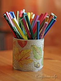 Fall Pencil Holder