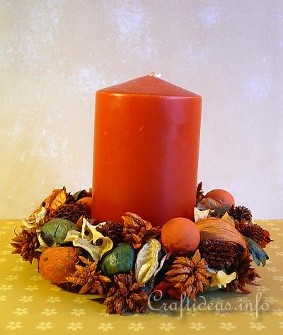 Fall Potpourri Wreath