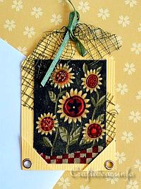 Fall Sunflowers Tag
