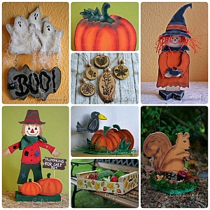 Fall, Halloween and Thanksgiving Wood Crafts