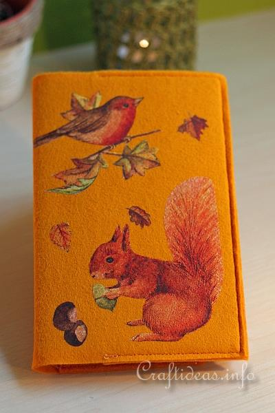 Book Cover Craft Books : Autumn textile craft project felt book cover