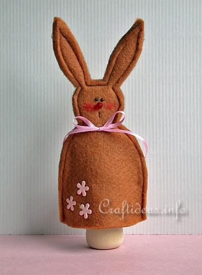 Felt Craft for Easter - Felt Bunny Egg Warmer 1