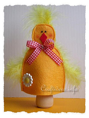 Felt Craft for Easter - Felt Chick Egg Warmer