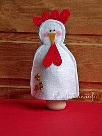Felt Craft for Easter - Felt Hen Egg Warmer