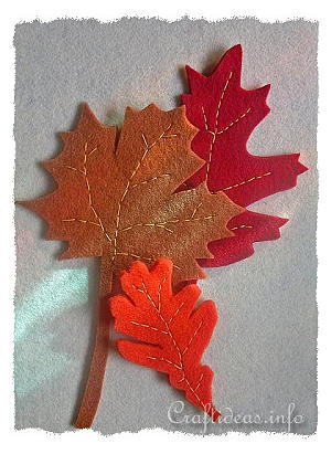 Free Fall Felt Craft Project Felt Autumn Leaves