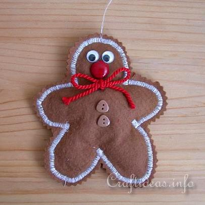 Free Fabric Christmas Craft Project Sew A Felt Gingerbread Man