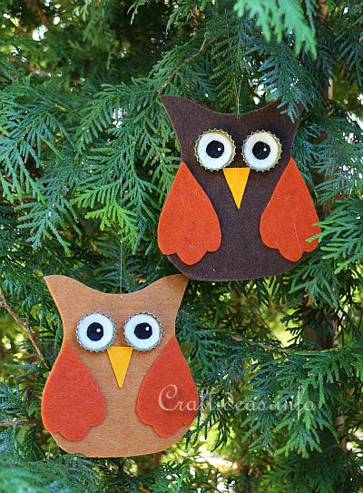 Felt Owl Ornaments 1