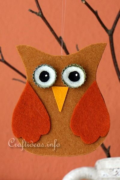Felt Owl Ornaments 2