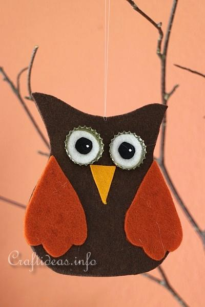 Felt Owl Ornaments 3