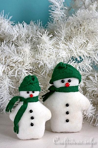 Craftideas Info Sew Felt Snowmen For Christmas