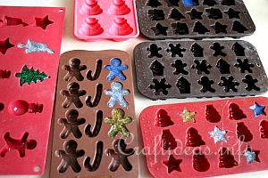 Fill Candy Molds With Hot Glue