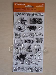 Fiskars Clear Halloween Stamps