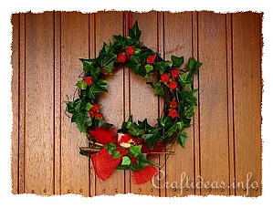 Floral Craft for Summer - Door Wreath with Roses