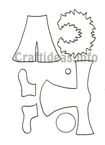 Free Craft Templates Or Patterns For Paper Clown Clothes