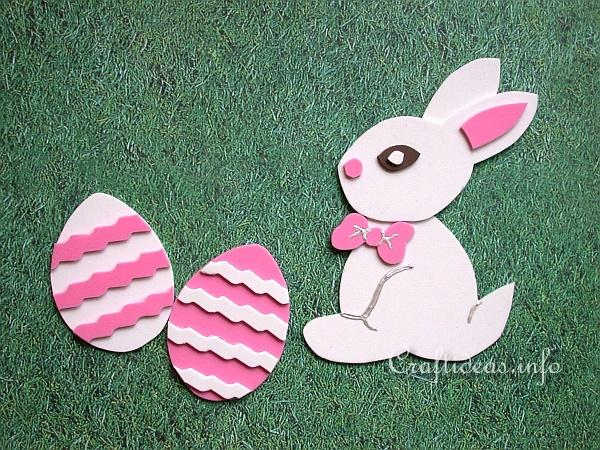 Easter crafts for kids fun foam easter bunny and eggs