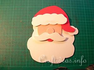 Kids Craft for Christmas - Fun Foam Santa Decoration