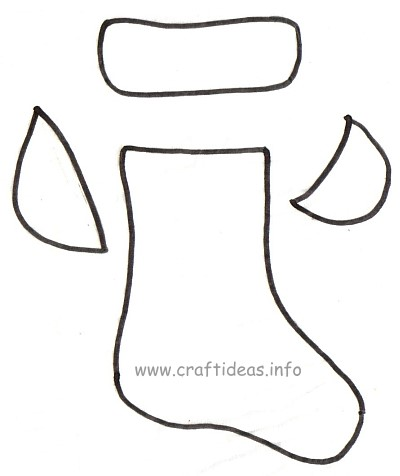 free craft projects for christmas stocking template