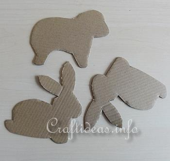 Furry Easter Bunny and Sheep Cardboard Templates