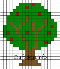 Fuse Bead Apple Tree Pattern