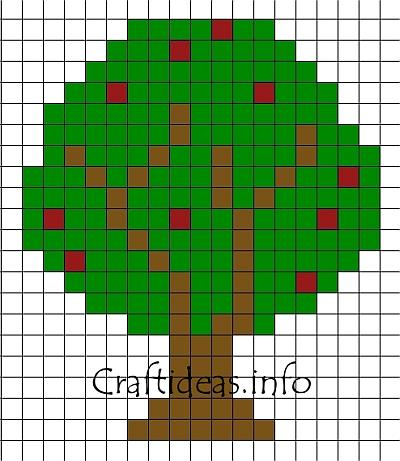 Crafts For Kids Fuse Beads Or Perler Beads Apple Tree
