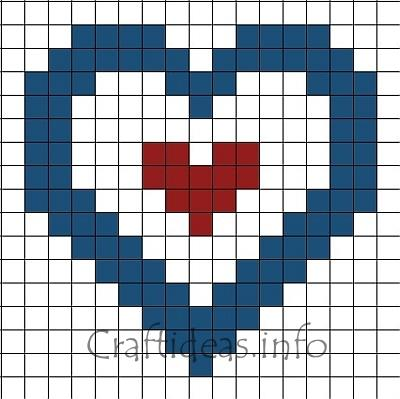 Independence Day Craft For Kids Fuse Beads Patriotic Heart