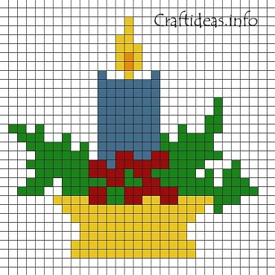 Free Christmas Craft Pattern Fuse Beads Candle New Fuse Beads Patterns