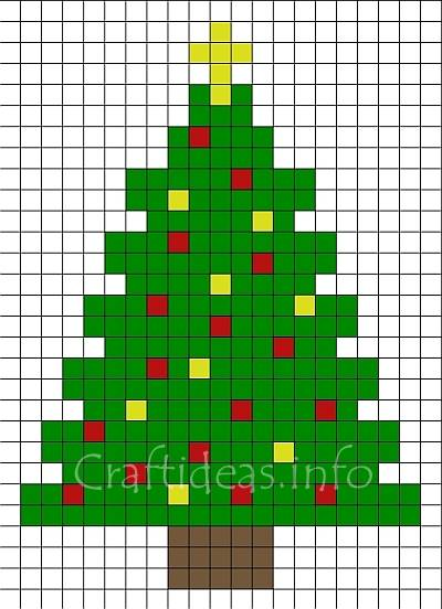 Craft For Christmas Pattern For A Fuse Bead Christmas Tree