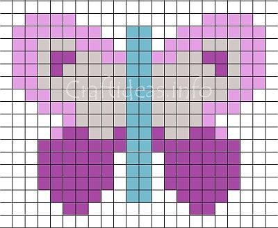 Free Craft Pattern For Kids Fuse Bead Butterfly Pattern