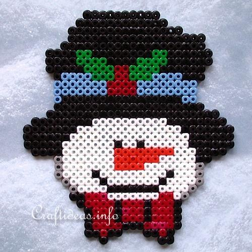 Fuse Beads Snowman - Christmas Craft