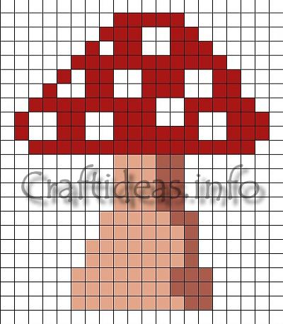Fuse Beads Toadstool Template