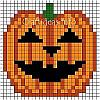 Fuse Beads or Perler Beads Jack o' Lantern Pattern