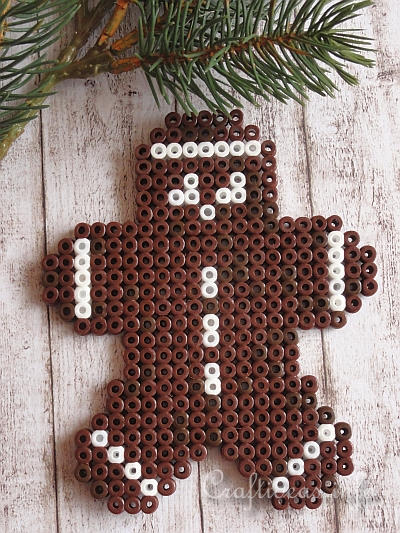 Fused Beads Gingerbread Man 1