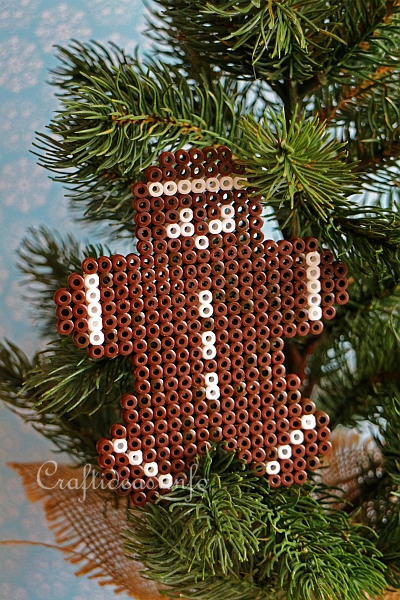 Fused Beads Gingerbread Man 2