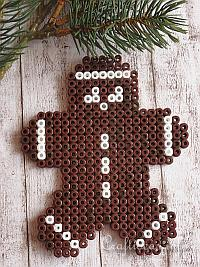 Fused Beads Gingerbread Man