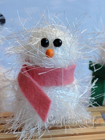 Christmas And Winter Craft Project Fuzzy Snowman Family